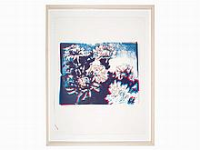Andy Warhol, Screenprint, Kiku (Blue, White, Red), USA, 1983