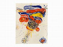 Sam Francis, Color Lithograph, Flying Love, USA, 1963