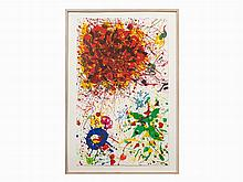 Sam Francis, Color Lithograph, Untitled, USA, 1987