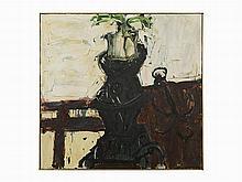 Lester F. Johnson, Oil on Canvas, Spring Still Life, 1965