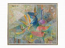 Romeo V. Tabuena, Acrylic on Board, Watermelon Slices, 1969