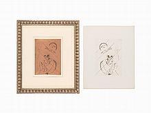 Marc Chagall, Copper Plate & Etching, De Mauvais Sujets, 1958