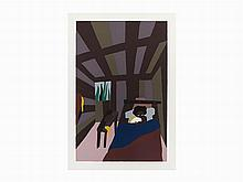 Jacob Lawrence, Screenprint, The Birth of Toussaint, 1986