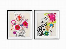Matthew Weinstein, Mixed Media, Pair of Works, 1992-4