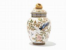 Keller et Guerin, Covered Porcelain Urn, circa 1900