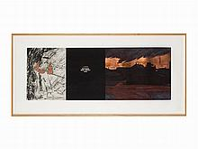 Komar & Melamid, Aquatint & Collage, 'Sunrise at Bayonne', 1988