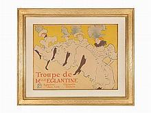 Henri de Toulouse-Lautrec, Lithograph, Mlle Eglantine, 1896