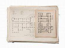 58 English & German Engraved Architectural Plates, 18th C.