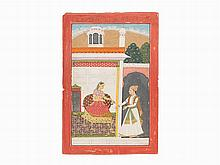 An Illustrated Folio from the Rasika-Priya by Keshav Das
