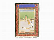 A Commemorative Portrait of Maharaja Madho Singh of Jaipur