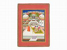 Syam Kalyan Ragini: An Illustrated Folio from a Ragamala Series