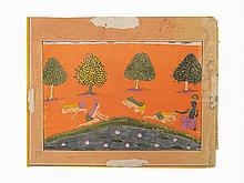 Krishna Saves the Unconscious Gopas, 17th C.