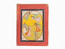 Angels Dance and Fly, Pahari/possibly Mandi, c. 1840