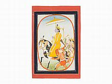 The Return of Rama, Pahari/Kangra or Guler, early 19th C.