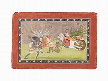 An Illustrated Folio from the Devi Mahatmya, mid 19th C.