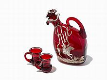 American Rye Whiskey Decanter Set, Early 20th C.
