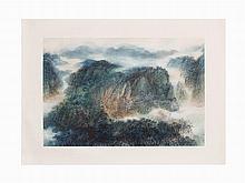 Xiong Hai (Hung Hoi), Ink and Color Painting,China, 1988