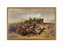 Christian Adolph Schreyer, Crimean War, Oil on Canvas, 1854