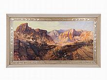 Lorenzo E. Ghiglieri, Oil on masonite, 'Western Riders', 1997-8