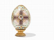 Russian Porcelain Easter Egg, Late 19th/Early 20th Century