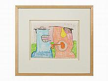 Carroll Dunham, 'Untitled (2/26/96)', Crayon, 1996