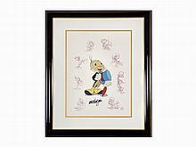 Walt Disney Studios, 'Jiminy Cricket', Animation Cel, 1995