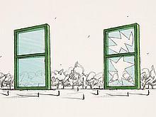 Claes Oldenburg, Proposal for Civic Monument, Lithograph, 1982