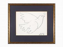 Pablo Picasso, 'Dove of Peace', Offset Lithograph, 1961