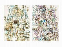 David Salle, Theme For an Aztec Moralist I & V, 1983