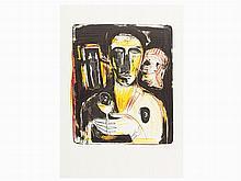 Mimmo Paladino, 'Comme in Uno Specchio', Lithograph, 1981