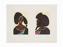 Chris Ofili, 'Afro Harlem Muses', Lithograph, 2005
