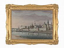 19th Century School, A Capriccio View of the Moscow Kremlin