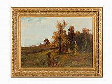Karl Rosen, Autumn Landscape, Oil on Canvas