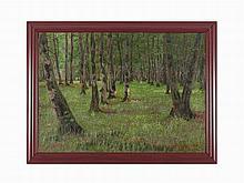 Andrei Nikolaevich Shilder, Forest Landscape with Walkers