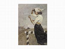 Anatoly Nikolaevich Talalaev, Signalwoman, Oil on Canvas, 1960
