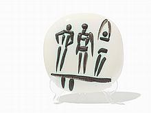 Pablo Picasso, 'Trois personnages sur tremplin', Ceramic Plaque