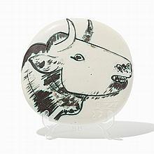 Pablo Picasso, 'Profil de taureau', Ceramic Plaque, 1956
