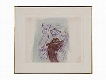 "Francisco Toledo, ""Menagerie,"" Work on Paper, 20th C."