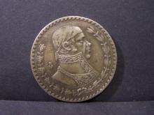 1957 MEXICO 1 PESO SILVER COIN