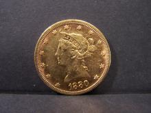 1880 CIRC. $10 Gold Liberty.  Very collectible and sought after gold coin from the 1800's