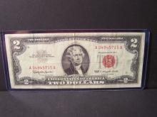 1963 $2 DOLLAR UNITED STATES NOTE (RED INK)