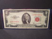 1953-C $2 DOLLAR UNITED STATES NOTE (RED INK)