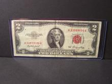 1953 $2 DOLLAR UNITED STATES NOTE (RED INK)