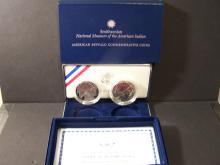 2001 Two-Coin American Buffalo Commemorative Coin Set.
