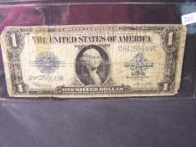 1923 Series $1 Silver Certificate.  Heavily Circulated.