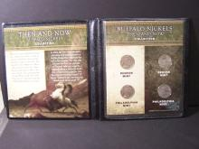 Buffalo Nickels then & now collection.