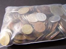 Ultimate Grab Bag of Foreign Coins!  Two-Pounds of world coins!