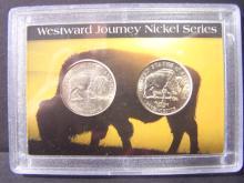 Two-Coin Westward Journey Nickel Set.