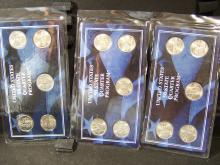 3 year set of Brilliant Uncirculated State Quarters.  1999-2001.  15 coins in total.