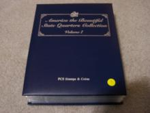 Collector's Album of State and Territorial Quarters.  27 sets of P&D mint quarters, 54 coins in total.  All are in beautiful Brilliant Uncirculated Condition!  As a bonus, a 5 coin set of 2012 America the Beautiful Brilliant Uncirculated Quarters is included in the back of the binder.